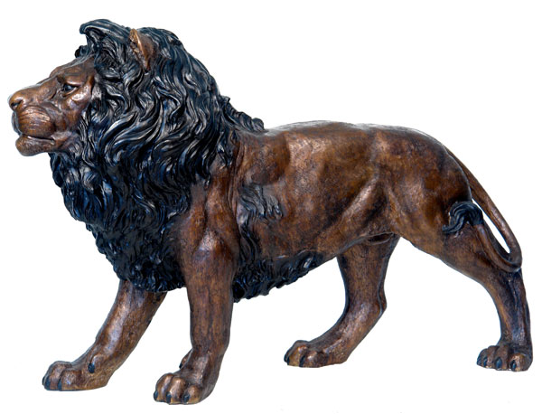 paire statues en bronze lion 150cm sculpture animal decoration exterieure. Black Bedroom Furniture Sets. Home Design Ideas