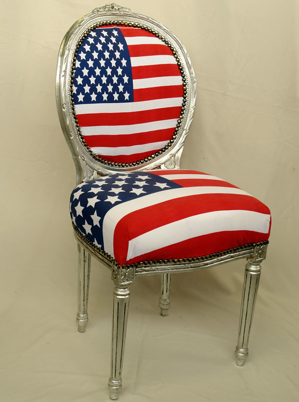 barockstuhl stars and stripes barock stuhl silber esszimmerstuhl sternenbanner ebay. Black Bedroom Furniture Sets. Home Design Ideas