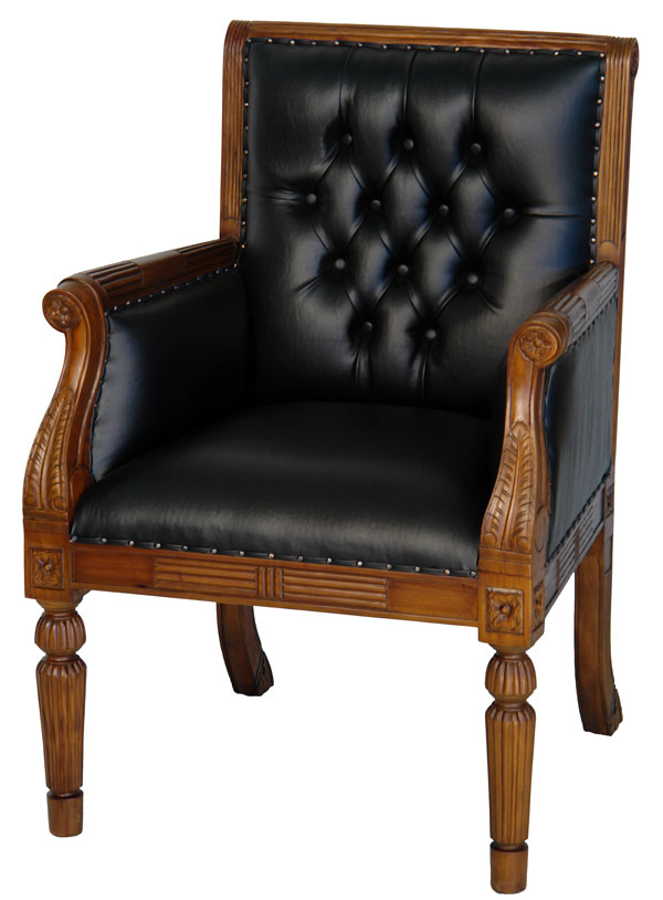 mahagoni bibliothek sessel chesterfield office chair b ro stuhl schwarz edelholz ebay. Black Bedroom Furniture Sets. Home Design Ideas