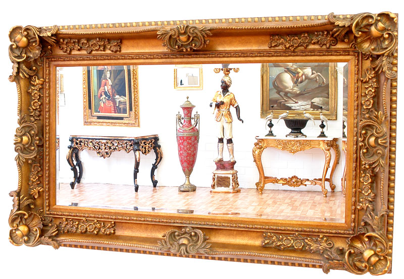 miroir baroque rococo dore 156x95cm glace rocailles style louis xv empire ebay. Black Bedroom Furniture Sets. Home Design Ideas