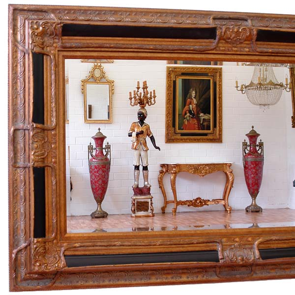 regency wandspiegel antik gold holz rahmen. Black Bedroom Furniture Sets. Home Design Ideas