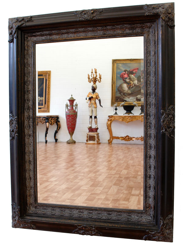 edel im look wandspiegel renaissance holz rahmen spiegel schwarz ebay. Black Bedroom Furniture Sets. Home Design Ideas