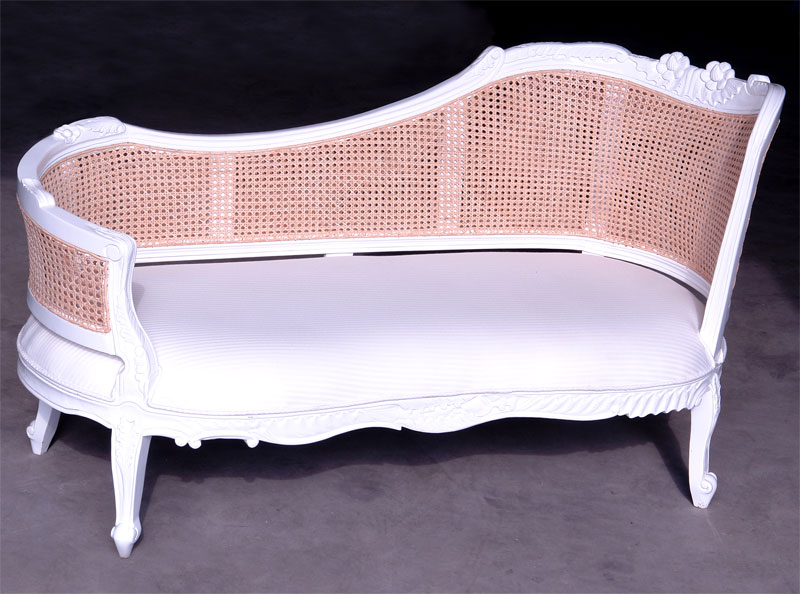shabby chic sofa chaiselongue antik weiss louis sofam bel vintage antik look top ebay. Black Bedroom Furniture Sets. Home Design Ideas