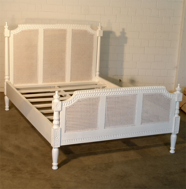 franz chateau bett innen antik weiss vintage bett k niglich betten ebay. Black Bedroom Furniture Sets. Home Design Ideas