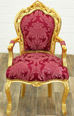 Barock Dining-chair rot