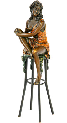 Bronze - Girl at the Bar