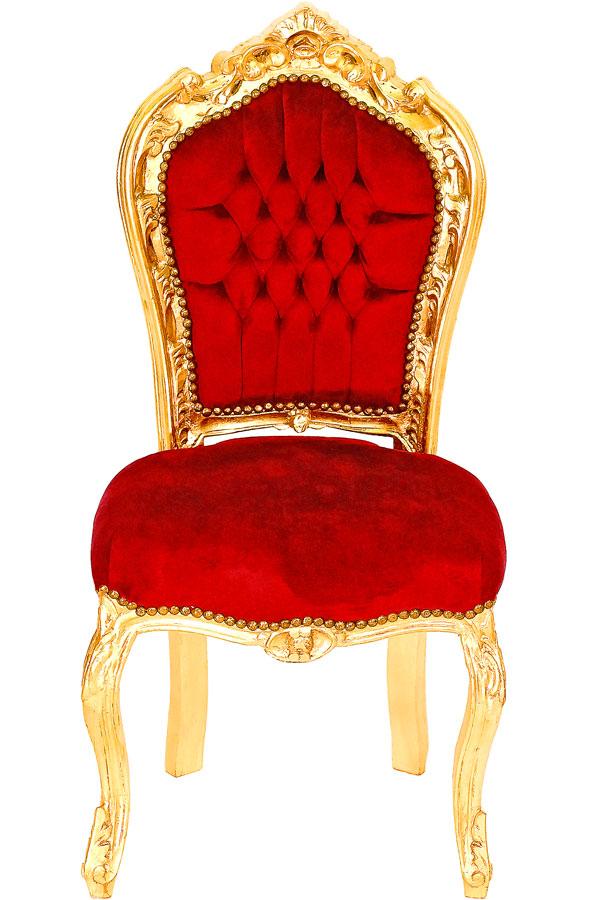 Amazing Barock Esszimmer Stuhl #2: Barock Esszimmerstuhl Rot-gold