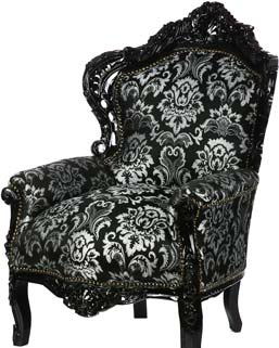 Black Glam-Rock Chair