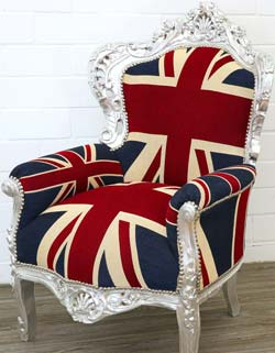 Union-Jack Barocksessel